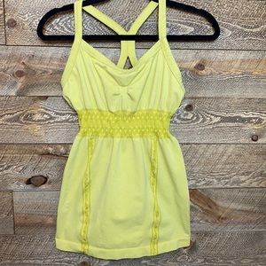 Athleta chartreuse Athletic top with shelf bra
